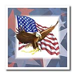 click on Bald Eagle On USA Flag On Red White Blue Stars to enlarge!