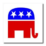 click on Red White Blue Political Symbol to enlarge!