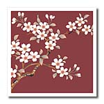 click on Japanese White Flowers on Maroon to enlarge!