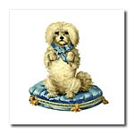click on Victorian White Poodle Painting to enlarge!
