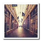 click on On The Mall - stylized photograph of shopping arcade located in Ann Arbor, Michigan to enlarge!