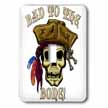 click on PIRATE SKULL WITH Bad To The Bone to enlarge!