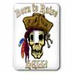 click on PIRATE SKULL WITH Born To Raise Hell to enlarge!