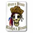 click on PIRATE SKULL WITH Once a Pirate to enlarge!