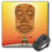click on VooDoo Tiki Head voodoo villager with tribal mask standing in tropical environment to enlarge!