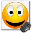 click on Smiley Face 2 a yellow and black happy face with a big smile and glowing nose to enlarge!