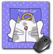 click on Angel Gray Bi color Cat Cute Cartoon Pet Loss Memorial  to enlarge!