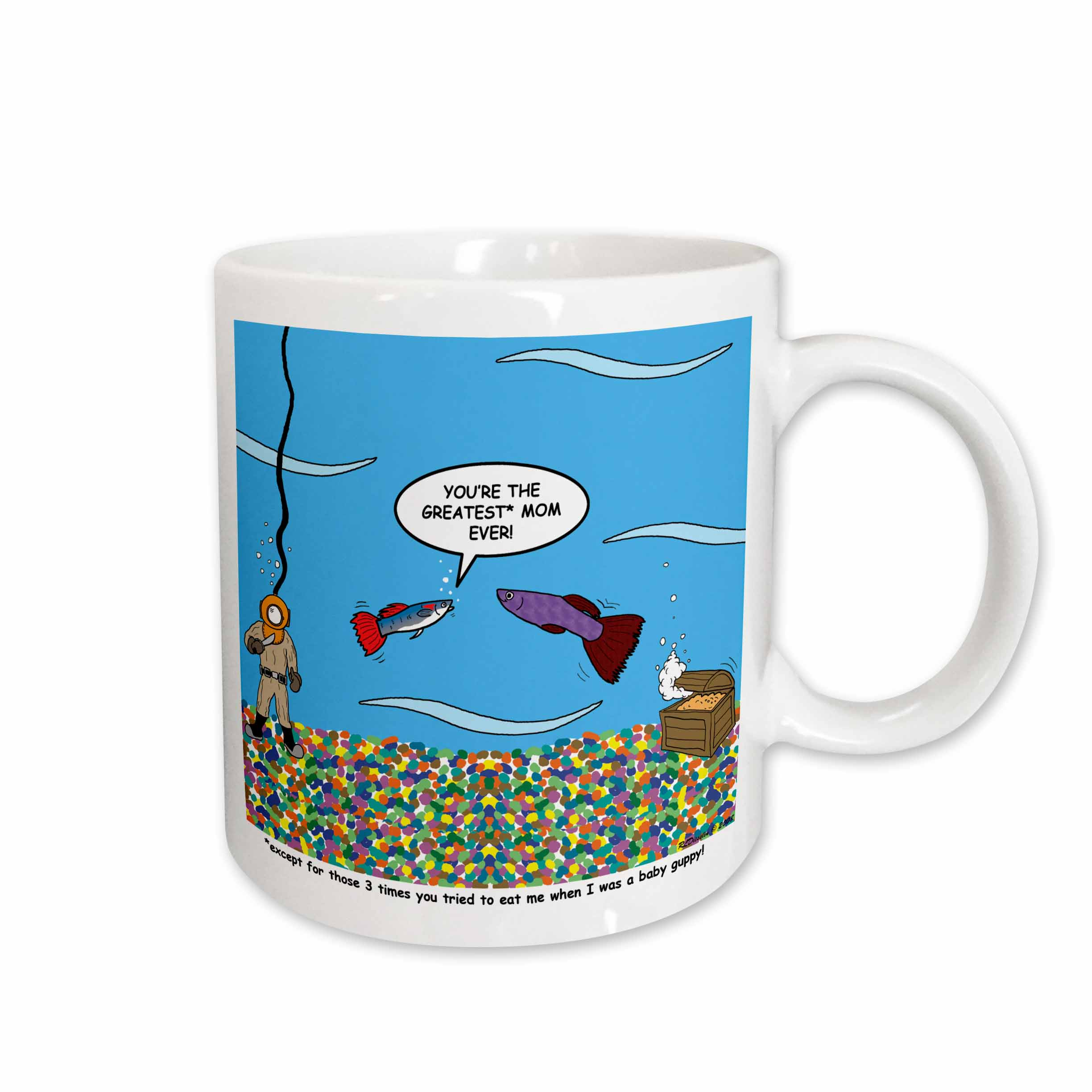 3dRose - Rich Diesslins Funny General Cartoons - Mothers Day guppy love - Mugs at Sears.com