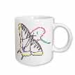 click on Outline of Swallowtail Butterfly in Color to enlarge!