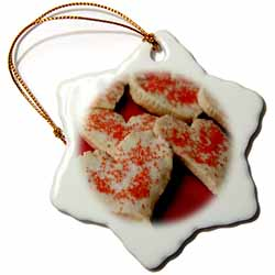 3dRose - Sandy Mertens Valentine Designs - Valentine Heart Shape Cookies - Ornaments at Sears.com