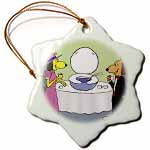 click on Fancy Dog Toilet Lid Punch Bowl to enlarge!