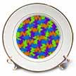 click on Fractural Puzzle of Orange Green Purple and Blue to enlarge!