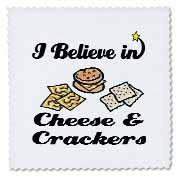 3dRose - Dooni Designs I Believe In Designs - I Believe In Cheese And Crackers - Quilt Squares at Sears.com