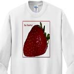 click on Strawberry With White Background Eat Healthy to enlarge!