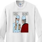 click on Surgeons Scrubs Turn Out to Be a Choir Robe to enlarge!