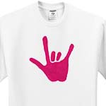 click on Love Sign Language Pink to enlarge!