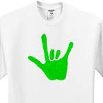 click on Love Hand Sign Language in Green to enlarge!