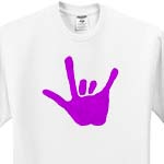click on Love Hand Sign Language in Purple to enlarge!