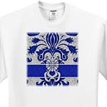 click on Damask Royal Blue and Silver to enlarge!