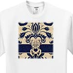 click on Damask Navy Blue and Taupe to enlarge!