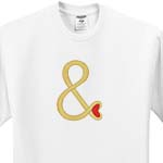 click on Gold And Sign with Red Heart for Wedding to enlarge!