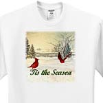 click on Tis The Season, Snowy Lake With Cardinals to enlarge!