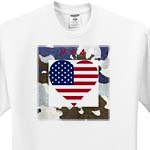 click on Heart Shape USA Flag On Camouflage to enlarge!