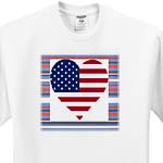 click on Heart Shape USA Flag On Red White Blue Stripes to enlarge!