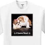 click on English Bulldog I Love You to enlarge!