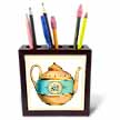 click on Turquoise n Peach Vintage Teapot to enlarge!