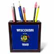 click on State Flag of Wisconsin (PD-US) to enlarge!