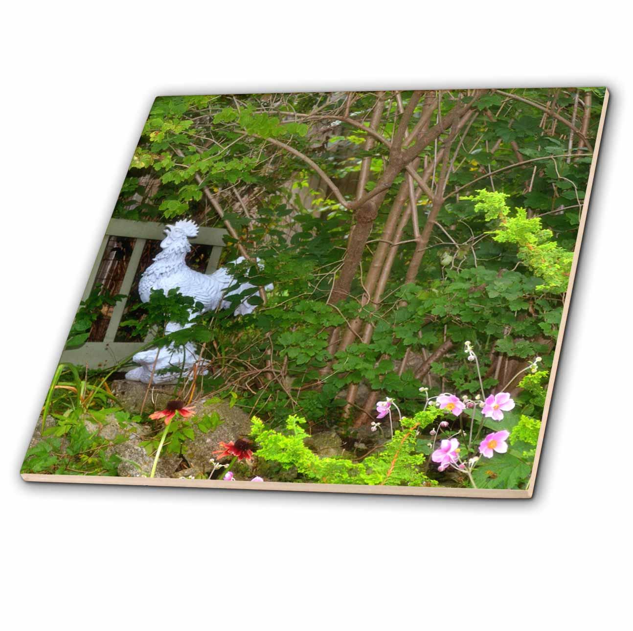 3dRose - ET Photography Garden Décor - A rooster statue - Tiles