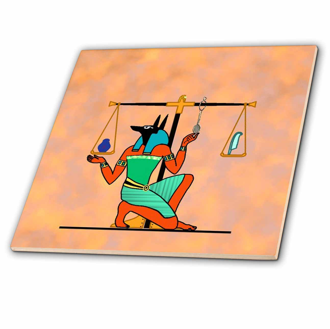 3dRose - Spiritual Awakenings-Symbols - Egyptian painting and scales - Tiles at Sears.com