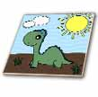 click on Cute Baby Green Dinosaur Scene to enlarge!