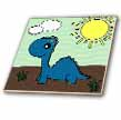 click on Cute Baby Blue Dinosaur Scene to enlarge!