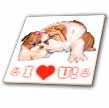click on English Bulldog and Shih Tzu I Love You to enlarge!