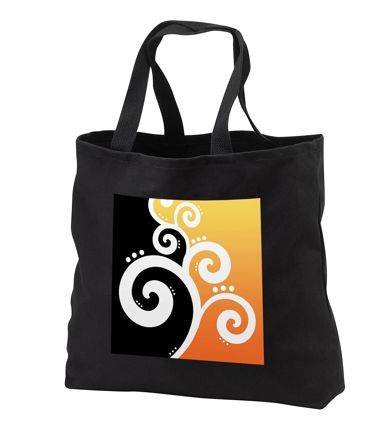 3dRose - Rewards4life Gifts - Chic Swirls And Dots Yellow - Tote Bags