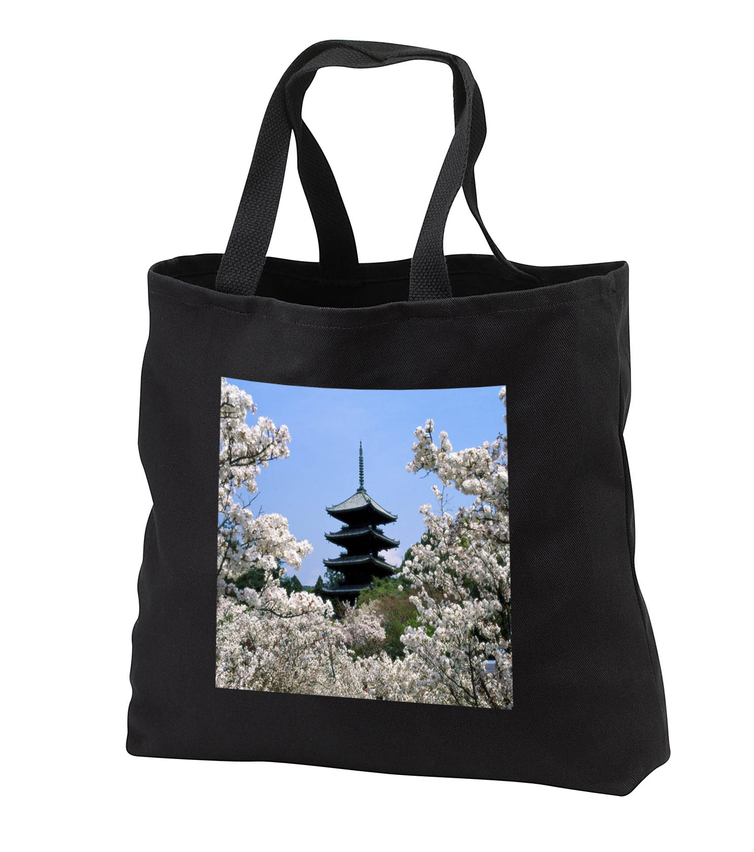 3dRose - Florene Worlds Exotic Spots - Cherry Blossoms In Japan - Tote Bags