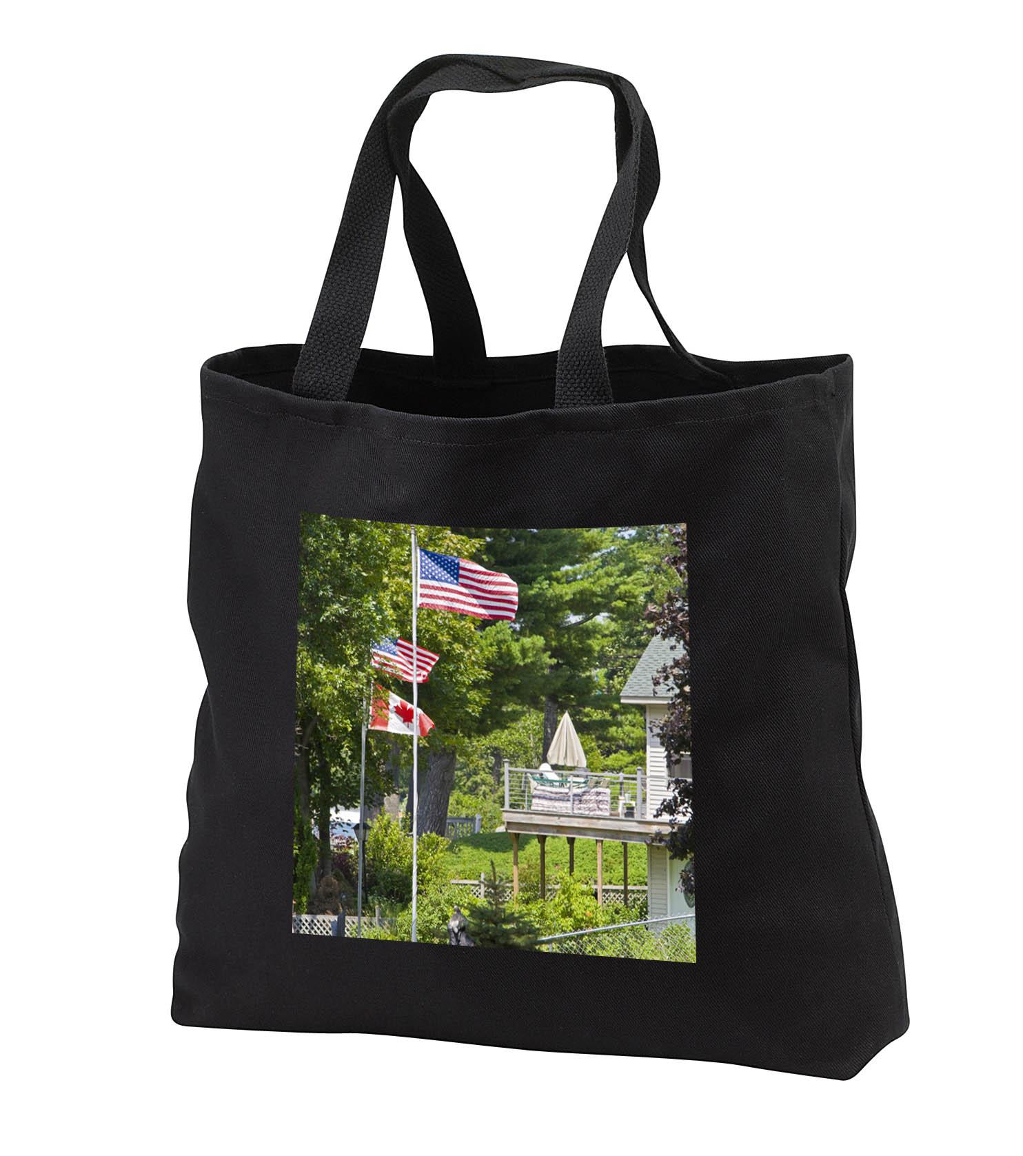3dRose - Danita Delimont - Flags - New York, American, Canadian flags - US33 BJA0040 - Jaynes Gallery - Tote ...