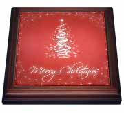 3dRose - Rewards4life Gifts - Merry Christmas Cards With Tree Red - Trivets at Sears.com