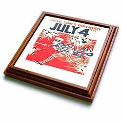 Fourth of July, independence day, fourth of july, 4th of july, uncle sam, usa, fireworks, carnivals Trivet