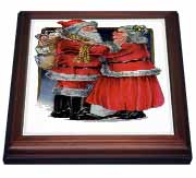 3dRose - Taiche - Greeting Cards - Christmas - Mr and Mrs Claus- vintage, vintage christmas, cute, nostalgic, father christmas, santa at Sears.com
