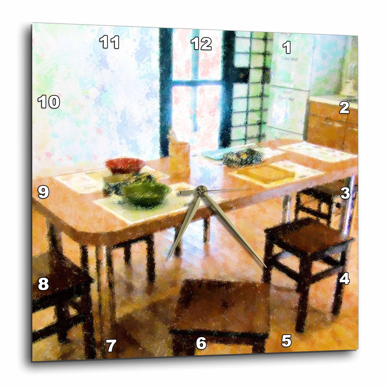 3dRose - Florene Impressionism - Japanese kitchen - Wall Clocks