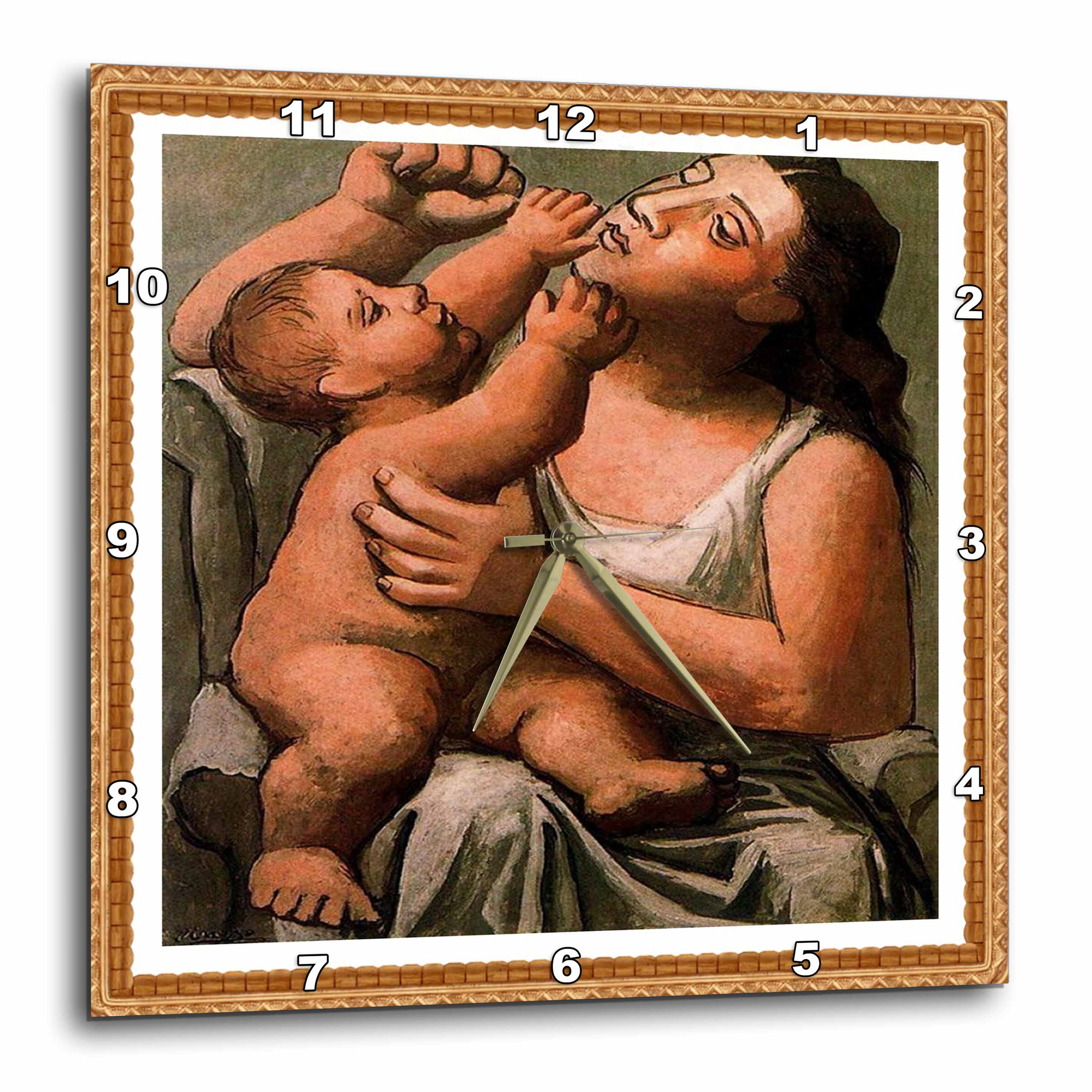 3dRose - Florene Cubism Art - Picasso Painting Mother n Baby 1917 - Wall Clocks at Sears.com
