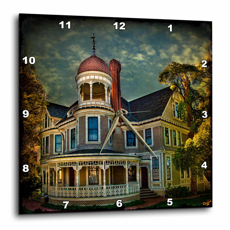 3dRose - Chris Lord Landmarks - Vintage Victorian House - Wall Clocks at Sears.com