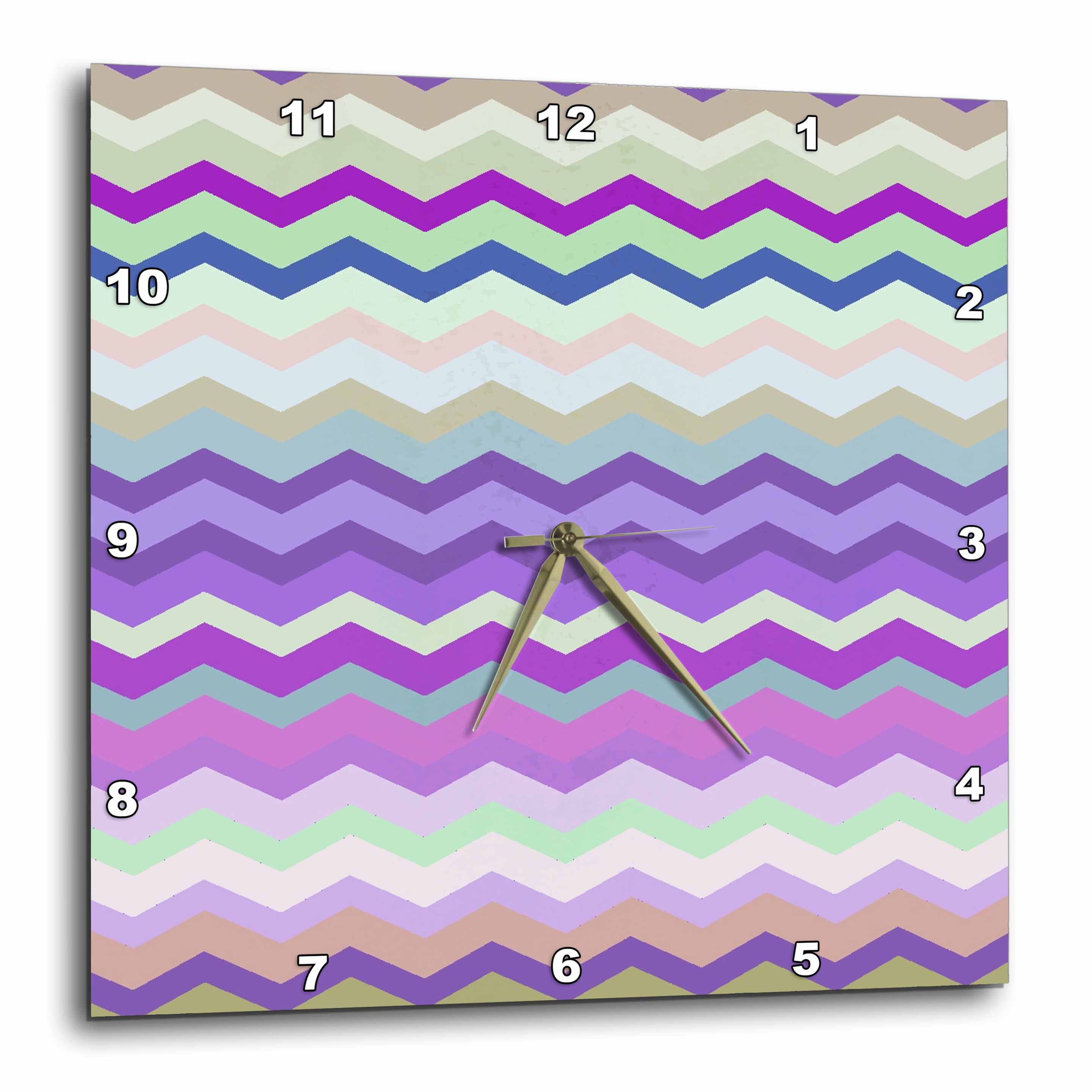 3dRose - InspirationzStore Chevron Patterns - Purple Green and Beige Colorful Zig Zag Chevron Pattern inspired by knitted sweater patt at Sears.com