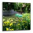click on Beautiful little pond surrounded by various gorgeous flowers to enlarge!