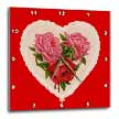 click on Vintage Heart with Red and Pink Roses to enlarge!